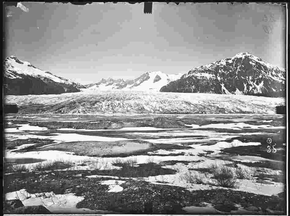 The Mendenhall Glacier in Juneau, Alaska, photographed in 1894.