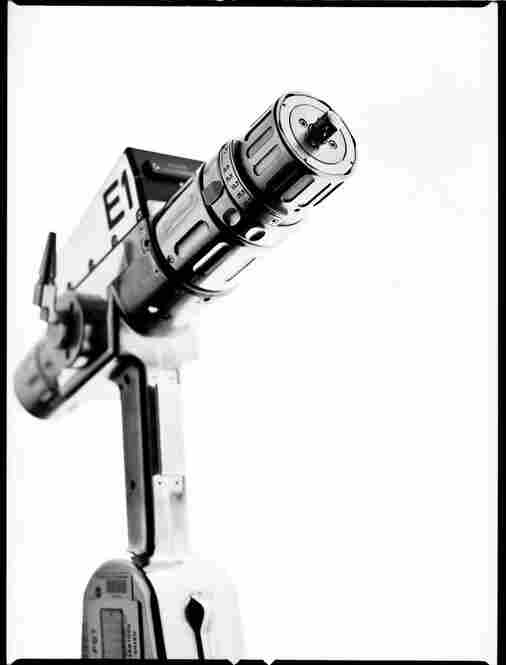 The EVA pistol grip tool is a high-torque, low-speed, microprocessor-controlled power tool used by spacewalking astronauts. It greatly reduces hand fatigue while astronauts work in pressurized spacesuits and helps reduce the amount of time it takes to loosen and tighten fasteners.
