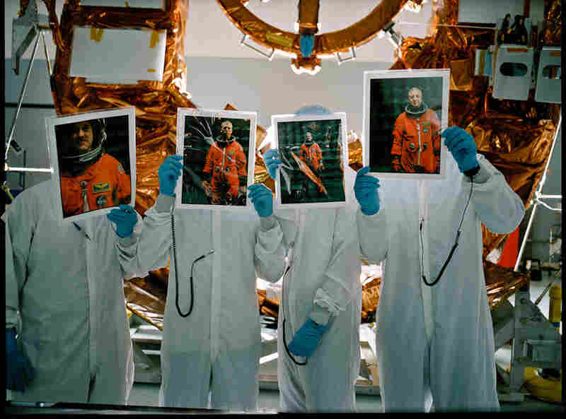 The spacewalkers of the last service mission (from left): John Grunsfeld, Andrew Feustel, Col. Michael Good and Michael Massimino.
