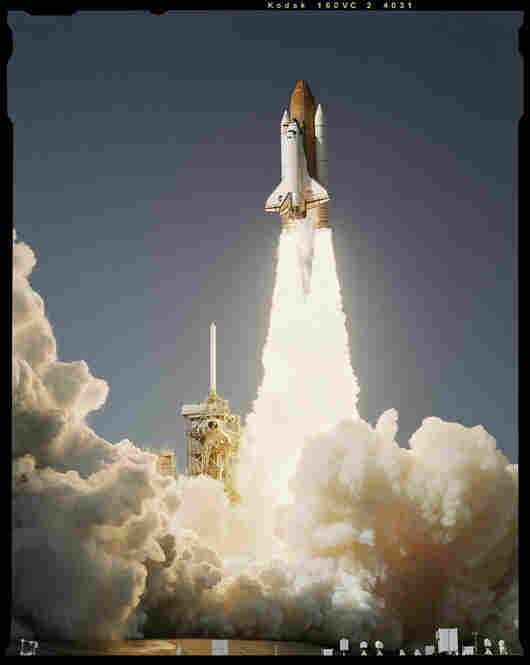 Shuttle Launch, Kennedy Space Center, Cocoa Beach, Fla., Oct. 27, 1998, Esquire