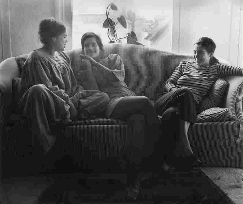 Reunion of lifelong friends, Los Angeles, 1968.  Friends since grade school, the women gathered here are still friends, 40 years after the photograph was taken. Leonard, the fourth friend, captured the moment.