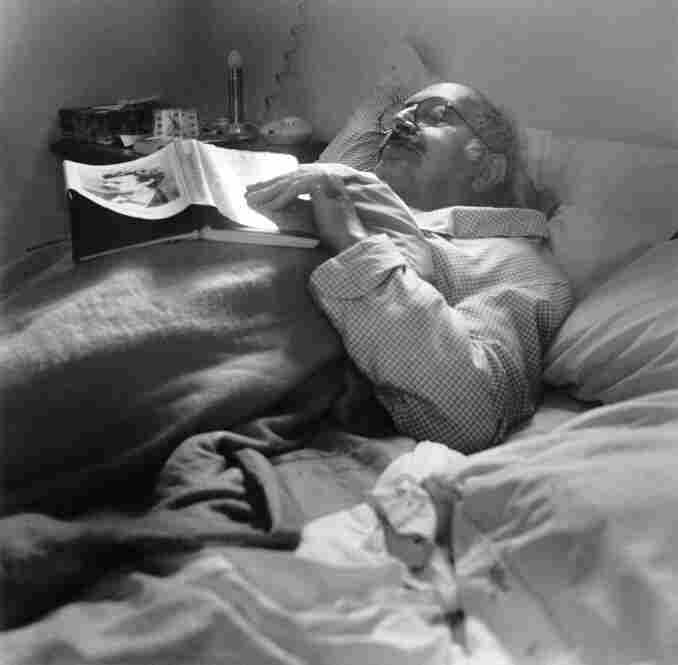 Alfred Leonard sleeping, Connecticut, 1970s.  Leonard has frequently photographed sleeping figures.  To her, those quiet moments provide an opportunity to reflect on relationships.
