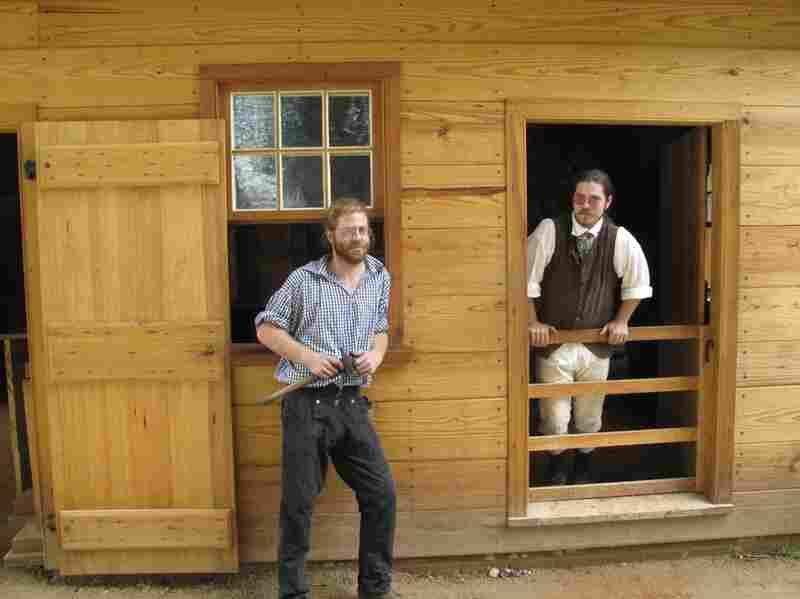 Blacksmith Eric Zieg and his assistant Nicholas Kimbell.