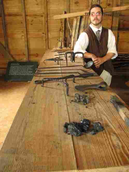 Many of the tools made here are used on the estate.