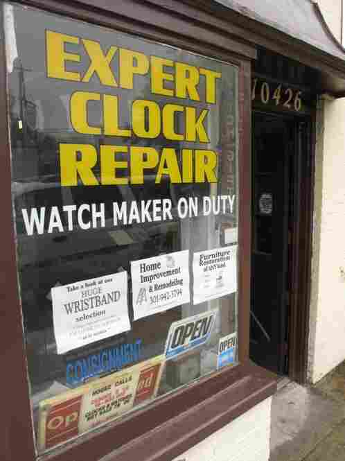 Kensington Clock & Watch Repair in Old Town Kensington, MD