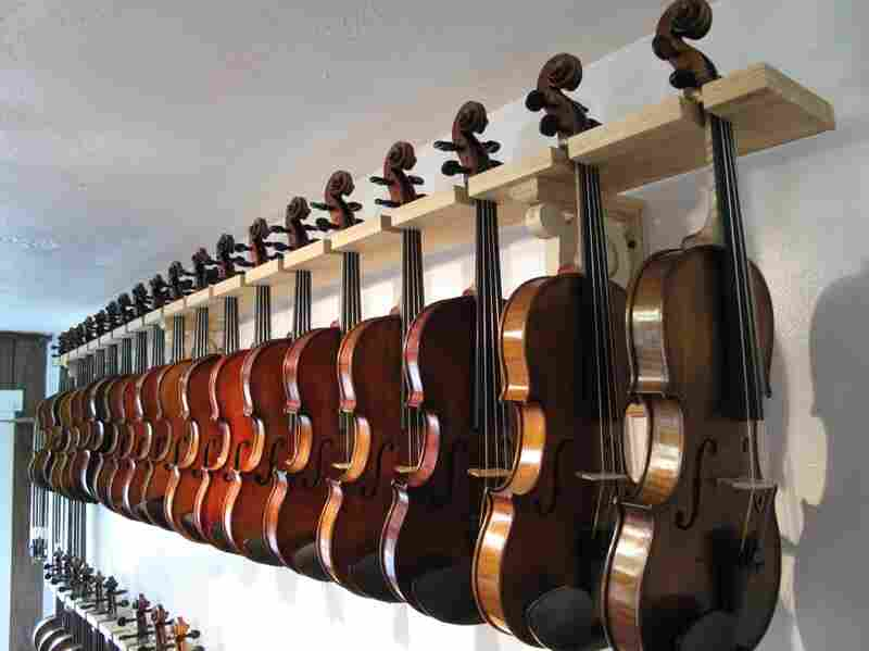 Violins for sale.