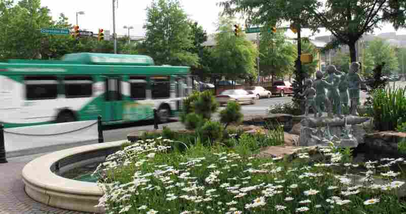 """The Market Common at Clarendon was designed as an """"urban village."""""""