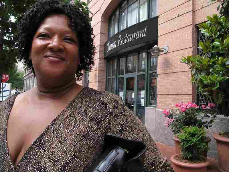 Debbie Harrison is in the neighborhood looking for a job.  She was told to return to Teaism at 2:30 to talk with the manager.