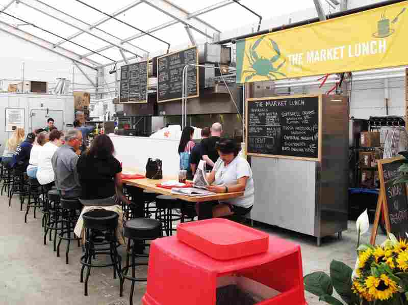 The Market Lunch, known widely for its crabcake sandwiches, is open five days per week.
