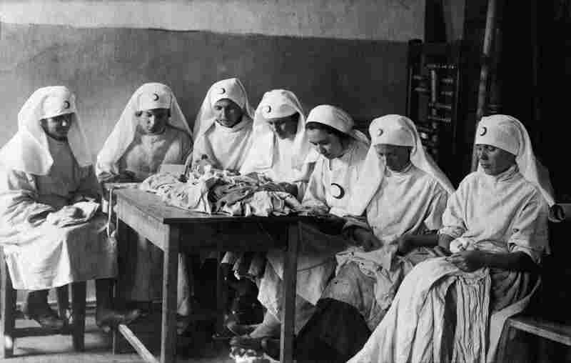 Nurses from the Alliance of Red Cross and Red Crescent Societies of the USSR in Azerbaijan shortly after the end of World War I.