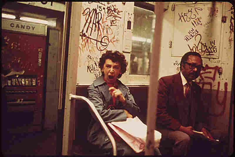 Although street crime rates were higher than subway crime rates, graffiti increased the sense of danger in the subway in the 1970s.