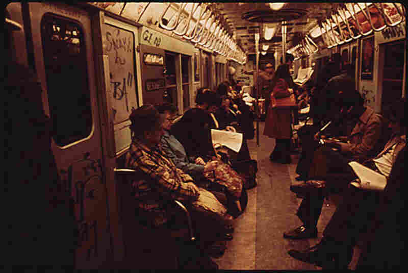 The modern form of graffiti emerged in the late 1960s and peaked in popularity the early 70s, when this photos was taken, and when the original Pelham film debuted. New York was the epicenter of graffiti art in the early 1970s, where it covered the subways.