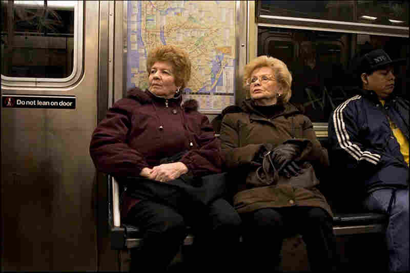 The more recent photographs give a contemporary look at the New York City Subway. In 2004, photographer Travis Ruse started a two year-long project documenting his commute to work and posting a daily image to his blog. July 30, 2006, R Train, Union Station, 6:35 p.m.