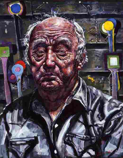 Ivan Albright, Self-portrait in Georgia, 1967-68.  Butler Institute of American Art