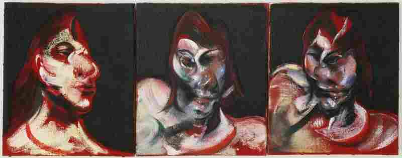Francis Bacon, Three Studies for the Portrait of Henrietta Moraes, 1963.  The Museum of Modern Art