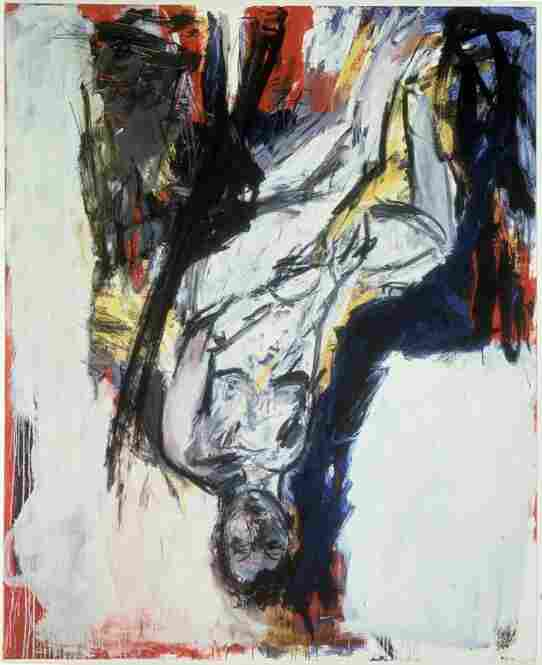 George Baselitz, Nude Elke 2, 1976. Albright-Knox Art Gallery