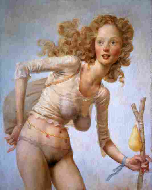 John Currin, The Hobo, 1999.  Museum of Contemporary Art San Diego