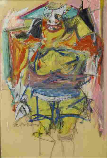 Willem de Kooning, Woman, 1953-54. Brooklyn Museum of Art