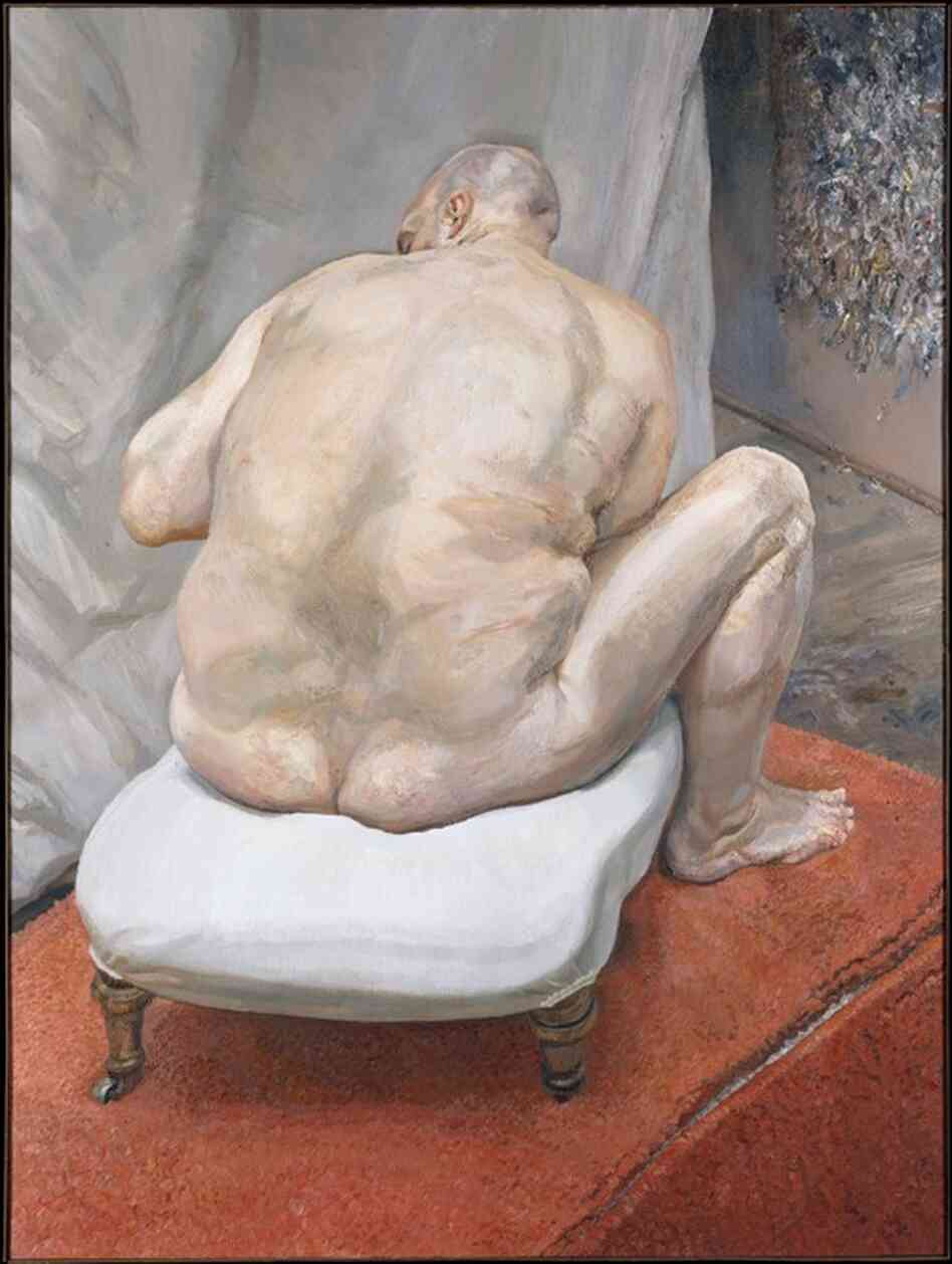 Lucian Freud,  Naked Man, Back View, 1991-92. The Metropolitan Museum of Art