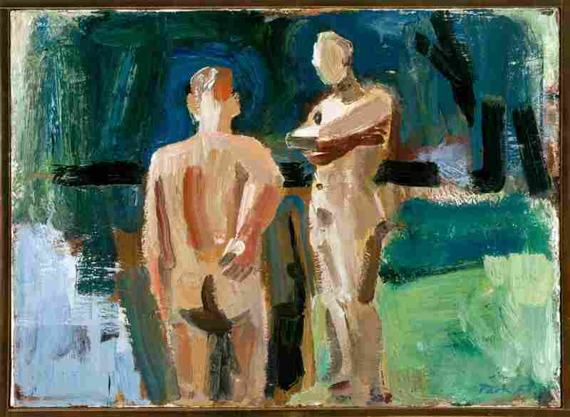 David Park, Male Nudes at the Water, 1957.  Hackett-Freedman Gallery