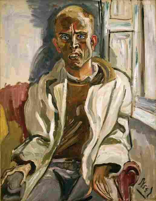 Alice Neel, Randall in Extremis, 1960.  Alice Neel Estate