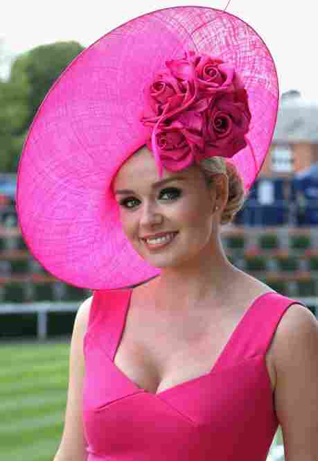 Welsh opera singer Katherine Jenkins arrives on the first day of Royal Ascot 2009.