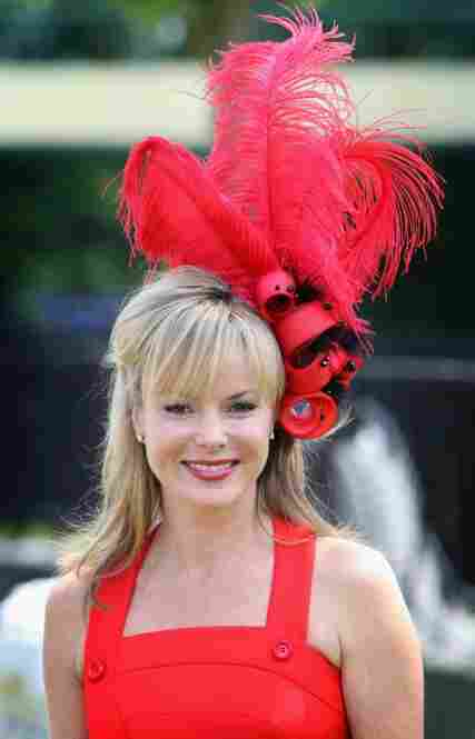 English actress Amanda Holden, a judge on Britain's Got Talent, arrives on the first day of Royal Ascot 2009.
