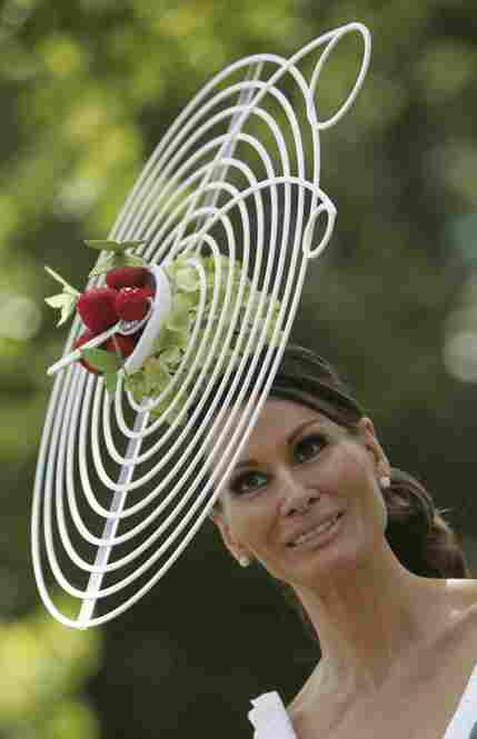 Fashion designer Isabella Kirstensen wears her fancy creation with fresh strawberries on the first day of the 2009 Royal Ascot horse racing meeting near England's Windsor Castle.