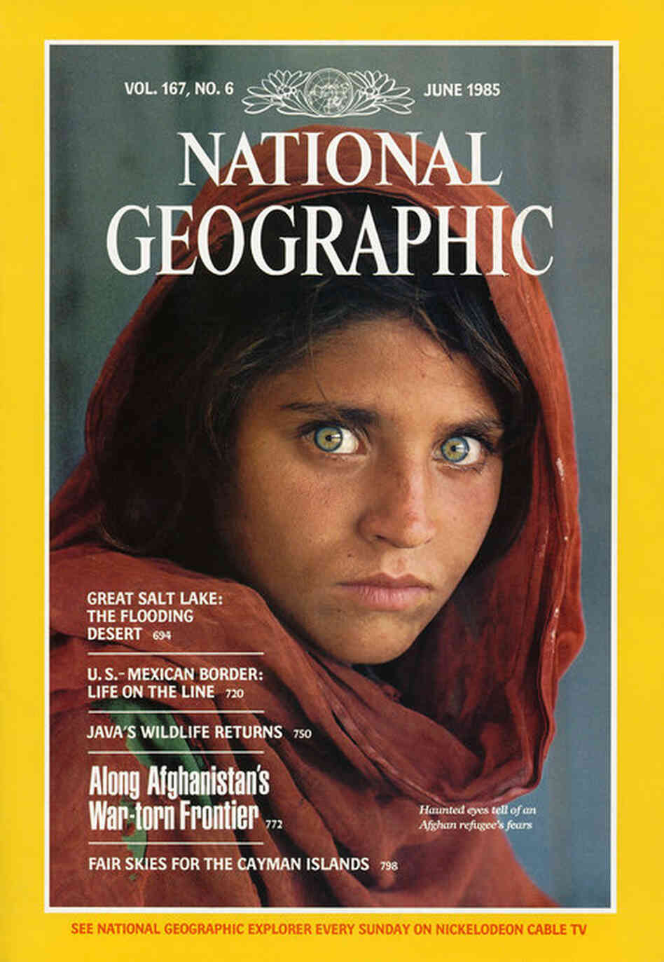 """Photographer Steve McCurry captured the iconic """"Afghan Girl"""" image using Kodak's Kodachrome film. This photo held the June 1985 cover spot of National Geographic, and was named to the American Society of Magazine Editors' """"40 Greatest Magazine Covers of the Last 40 Years"""" list in 2005. Kodak announced Monday that it would be discontinuing the production of Kodachrome film. (National Geog..."""