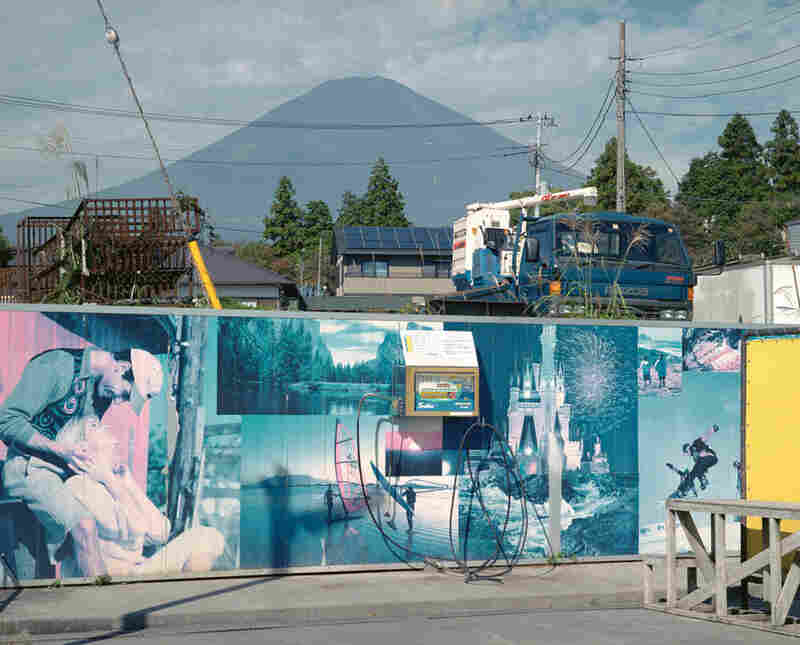 "Mount Fuji, the national park, is surrounded by gold courses, resorts and junkyards.  Chris Steele-Perkins' series ""Mount Fuji"" explores the erosion of natural beauty in Japan."