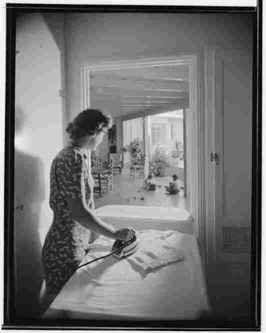 Mr. and Mrs. James W. Clyne residence, utility room, Malibu, Calif., circa 1946