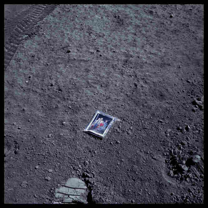 Image of Charles Duke's family on lunar surface, photographed by Charles Duke, Apollo 16, April 16-27, 1972