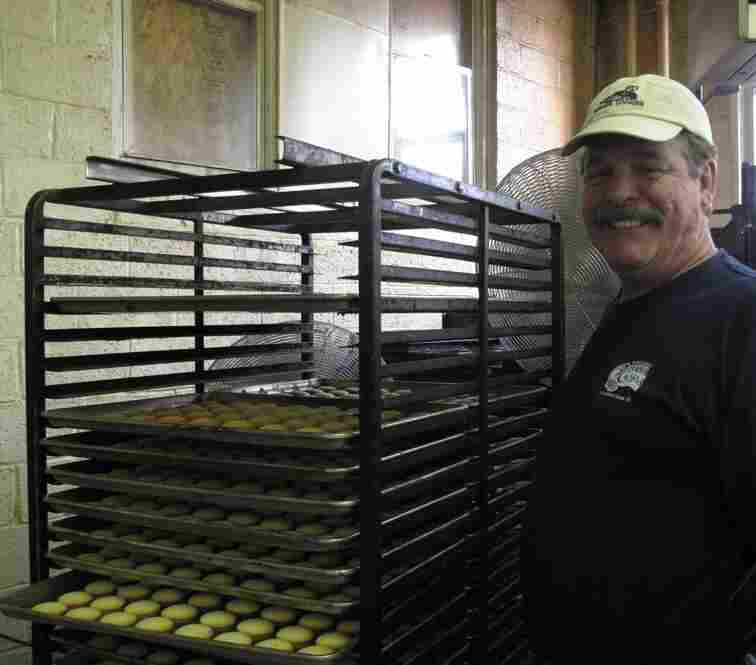 Bakery owner Charles DeBaufre.  His family took over the operation in 1967.