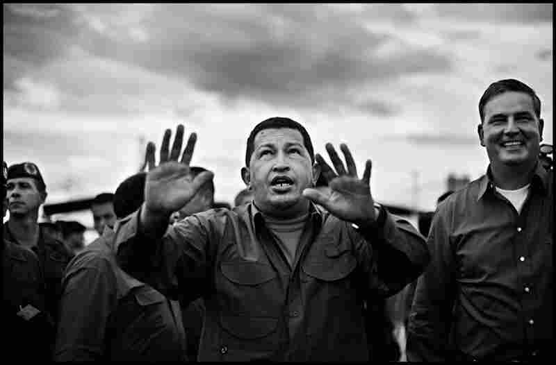 Anderson was late to the press pool to photograph Chavez celebrating the opening of a new metro line and got this image instead.