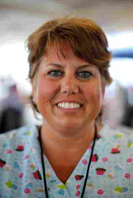 Heidi Hessler-Allen, 42, is a dental assistant from Richmond, Va. She helped give more than 10 patients fillings on Friday, working from 6:30 a.m. to 6:00 p.m. with no breaks.
