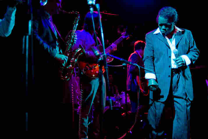 Lee Fields and The Expressions perform at Joe's Pub in New York City, July 21, 2009.