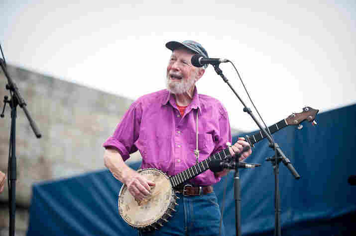 Pete Seeger at Newport Folk.