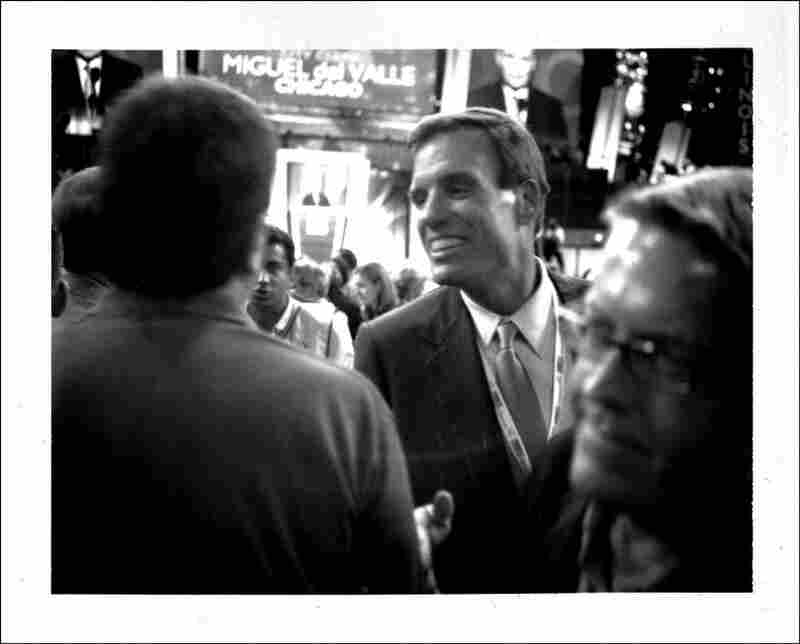 Virginia Gov. Mark Warner on the floor of the 2008 Democratic National Convention