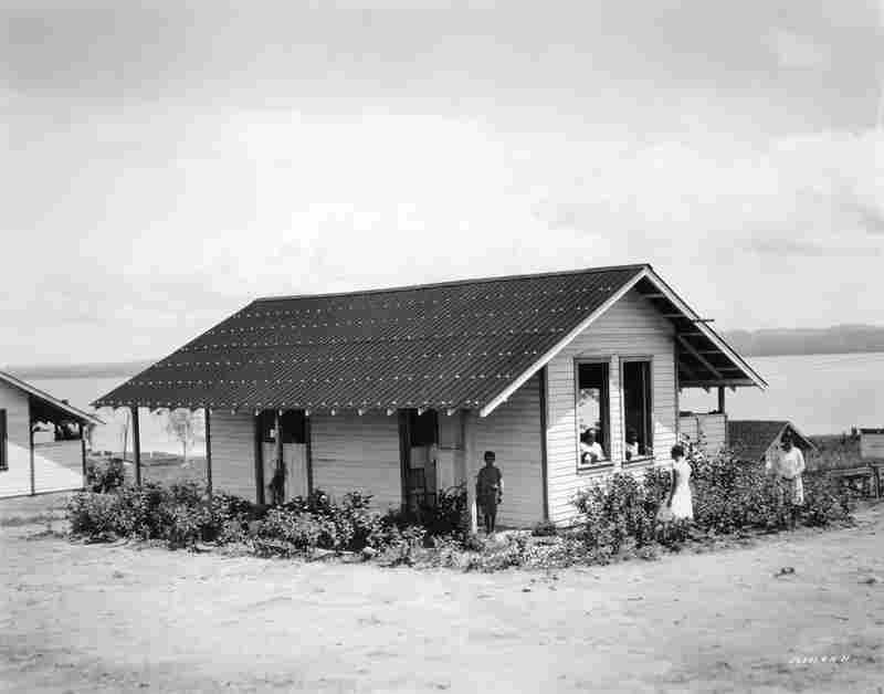 This family bungalow was part of a housing development styled after American homes.