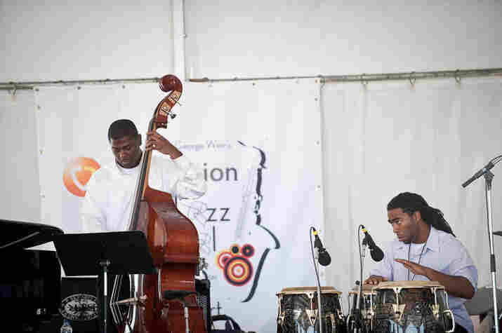 Members of the North Carolina Central University Jazz Combo start off the day.