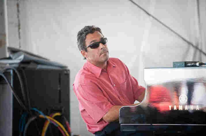 Joey Calderazzo performs with the North Carolina Central University Jazz Combo.