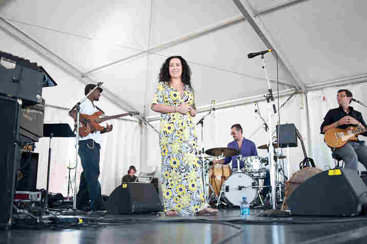 Claudia Acuna and her band.