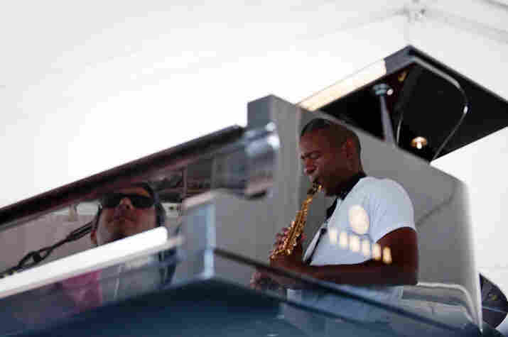 Joey Calderazzo and Branford Marsalis.