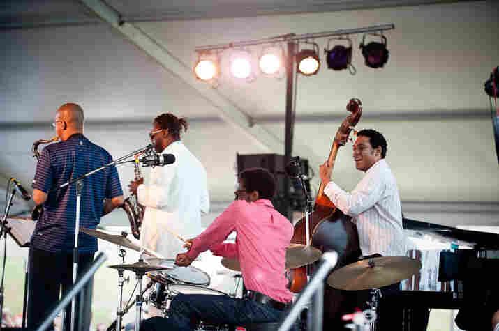 Melvin Butler, Myron Walden, Brian Blade and Chris Thomas of the Fellowship Band.