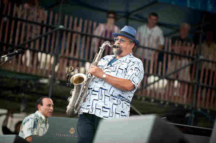 Joe Lovano performs with Michel Camilo.