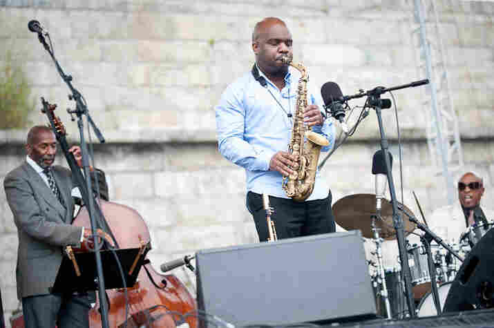 Ron Carter (bass) and Jaleel Shaw (alto saxophone) perform with Roy Haynes Fountain of Youth Band.