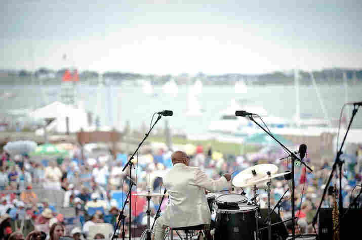Roy Haynes plays to the Newport crowd.