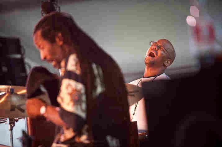 Leonard King and Gerard Gibbs of the James Carter Organ Trio.