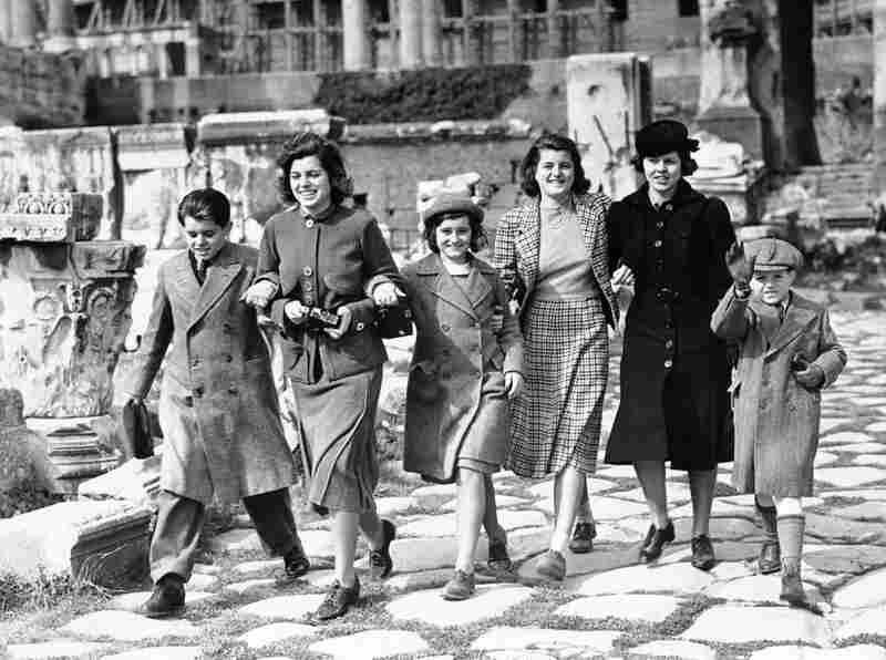 Shriver, second from left, said she developed an interest in mental disabilities because she was close to her older sister Rosemary. Rosemary, second from right, was born with mild retardation.Here, the Kennedy children attend the coronation of Pope Pius XII in Rome, Italy in 1939.