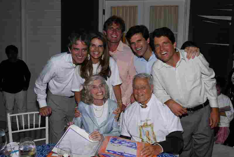Shriver celebrates her birthday at her home in Potomac, Md., on July 9, 2006, surrounded by her five children, Bobby, Maria, Anthony, Timothy and Mark, and husband, Sargent Shriver.